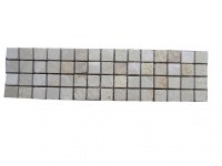 Travertin Mixte Mosaïque Frise 25x6,5 cm Antique EN STOCK