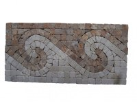 Travertin Mixte Mosaïque Frise 30,5x15,5 cm Antique EN STOCK