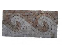 Travertin Mixte Mosaïque Frise 30,5x15,5 cm Antique EN STOCK
