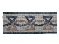 Travertin Mixte Mosaïque Frise 30,5x12,5 cm Antique EN STOCK