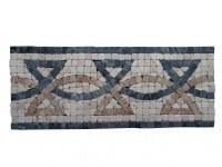 Travertin Mixte Mosaïque Frise 30,5x12,5 cm Antique EN STOCK