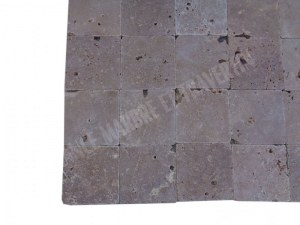 Travertin Noce 15x15 cm Commercial En Stock