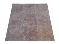 Travertin Rose 40x40 1,2 cm Antique Rustique EN STOCK