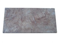 Travertin Rose Nez de Marche 30x60 3 cm Arrondi EN STOCK