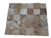 Travertin Valencia Scabas Antique 10x10 Rustique En Stock