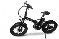 Velo fat bike éléctrique pliant e-Nomad 50 km d'autonomie - Noir et Orange -