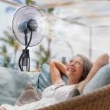 SHOP-STORY - MISTING FAN : Ventilateur Brumisateur sur Pied et Réservoir d'Eau avec Tél...