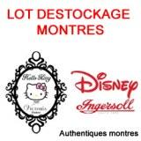 Lot Destockage de montres Authentiques Disney et Victoria couture