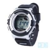 Solaire imperméable à l'eau el numérique montre-bracelet chronomètre automatique du sport