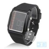 Femmes cuir PU bande de conduit montre-bracelet de mode avec alarme et calendrier