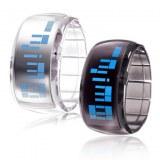 Montre LED Futuriste, Bracelet Moderne- Bleu clair, vert