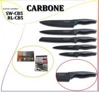 Set de couteau 6 pcs CARBONE revêtement non adhésif - New Design -