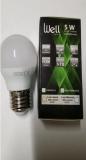 Lampe sphérique LED WELL E27 5W/3000K opale