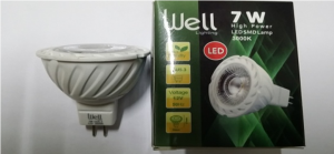 Lampe LED MR16 GU5,3 WELL 7W/3000K 36° Lumière jaune