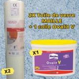 Lot promotionnel Toile de verre maille + Colle Ovalit