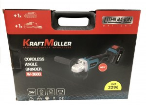 Meuleuse d'angle sans fil 24V Kraft Muller