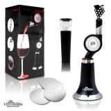 Aérateur vin   DropStop/Bouchons Inclus   Bec verseur   Roue tournante - Idéal vins Rou...