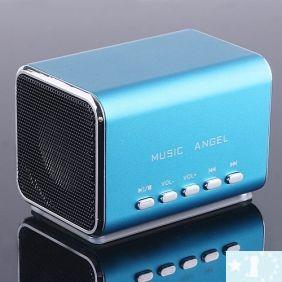 Mini haut-parleur Micro SD lecteur de musique / TF pour iPod portable- Argent, rose