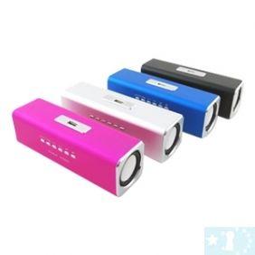 Mini lecteur de carte à la mode haut-parleur pour U-disque portable MP3- Bleu, noir